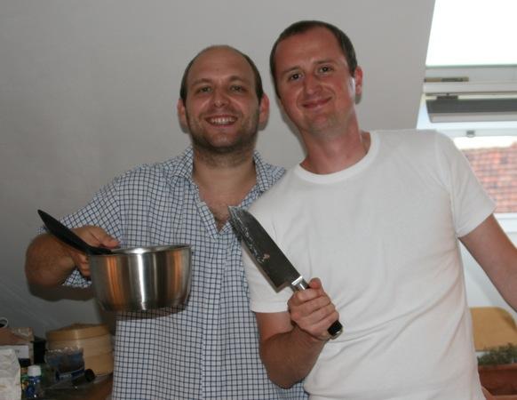 Alex & Willi beim Kochen