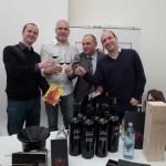 Weintage im MQ 2011 - Tutto Friuli (außen) mit Wolfgang Obermaier (2.v.r.) und Giulio Ceschin von La Viarte